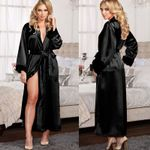 Sexy Lingerie Silk Lace Robe Dress Babydoll Nightdress Sleepwear