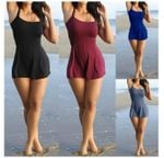 Playsuit Sexy Sleeveless Shorts Beach Casual Loose Nightclub Rompers