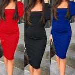 Sexy Slim Fit Sundress OL Clothes Office Elegant Dresses