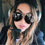 Oversize rimless Large Aviation Oversized Glasses Sunglasses
