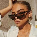 Vintage UV400 Black Shades Retro Cateye Sunglasses