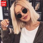 Classic Small Frame Round Designer Mirror Vintage Sunglasses