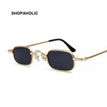 Retro Small Square Metal Steampunk Fashion High Quality Sunglasses