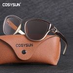 Luxury Brand Designer Polarized Cat Eye Elegant Eyewear Sunglasses