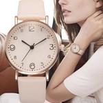 Fashion Luxury Leather Band Analog Quartz Golden Watches