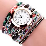 Fashion Quartz Bohemia Luxury Bracelet Flower Gemstone Watches