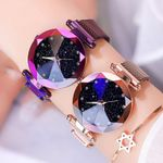 Starry Sky Luxury Fashion Diamond Magnet Quartz Wristwatch Watches