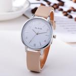 Silver Roman Numerals Dial Simple Quartz Wristwatch Watches