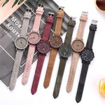 Retro Simple Casual Quartz Wrist Multicolor Leather Watches