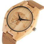 Mandala Bohemian Style Exquisite Engraving Bamboo Wood Watch