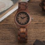 Simple Pure Dial Retro Walnut Clock Hours Whole Adjustable Wood Watch