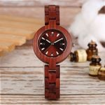Top Brand Unique Little Cute Dial Quartz Clock Dress Wood Watch