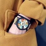 Fashion trend Middle school student Personality Wood Watch