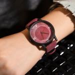 New Retro Casual Brand Vintage Leather Quartz Fashion Wood Watch