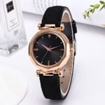 Luxury fashion bracelet casual Leather Crystal Wristwatch Wood Watch