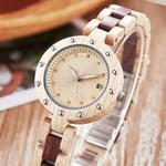 Natural Quartz Bracelet Wristwatches Rosewood Walnut Wood Watch