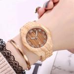High-end Fashion Stylish Grain Simple Digital Quartz Wood Watch