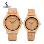 Lovers Timepieces Handmade Cork Strap Watch Luxury Wood Watch