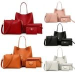 Fashion Leather Four-Piece Shoulder Handbag Crossbody Handbags