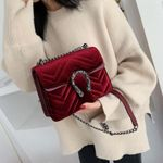 Designer Vintage Velvet Clutch Purse Shoulder Crossbody Handbags