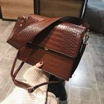 Vintage Alligator Shoulder Luxury Designer Chain Crossbody Handbags