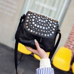 Rivet Crossbody Messenger Small Leather Shoulder Handbags