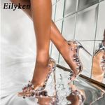 Rivet Crystal Pumps PVC Transparent Sexy Night Club Heels