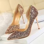 Pumps Sexy Bling Extreme Gold Sequins Gradient Stiletto Heels