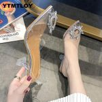Luxury Transparent Sexy Pointed Toe Slip-on Fashion SHeels