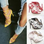Sandals Ankle Strap Pumps Pointed Toe High Heels