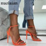 Gladiator Platform Pump Peep Toe Chaussure Heels