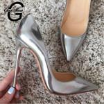 Pumps Silver Sexy Stilettos Fashion Luxury Heels