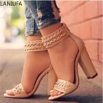Sexy Pumps Platform zipper Peep Toe sandals Heels