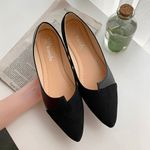 Best New Fashion Splice Color Fashion Pointed Toe Ballerina Flat shoes