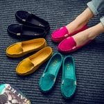 Plus Loafers Candy Color Slip on Ballet Comfortable Flat shoes