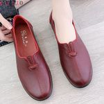 Leather Casual Loafers Female Fashion Slip On Moccasins Flat shoes