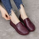 Handmade Loafers Genuine Leather Moccasins Soft Bottom Flat shoes