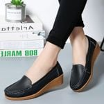 Genuine Leather Chaussures Femme Casual Loafers Ballet Flat Shoes