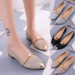 New pearl shallow-mouthed chic Flat shoes