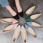 Fashion high quality suede slip-on pointed toe Flat shoes
