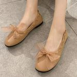 Slip On Loafers Bow Ballet Soft Leather Breathable Lightweight Flat shoes