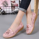 Genuine Leather Shoes With Low Heels Slip On Casual Flat Shoes