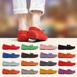 Genuine Leather Casual Loafers Slip On Moccasins butterfly-knot Flat shoes