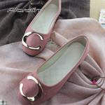Fashion Flock Slip-On Round Toe Casual Basic ballet Flat shoes