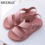 Gladiator Open Toe Buckle Soft Jelly Casual Flat Platform Beach Sandals