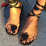 New Flat Bottom Toe Love Ankle Strap Fashion Sandals