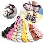 New Fashion Newborn Infant Baby Girls PU Leather Sandals