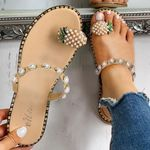 Flip Flops Slippers String Bead Fashion Wedges Sandals