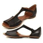 PU Leather Shoes Comfy Platform Flats Sole Casual Soft Slides Sandals