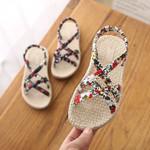 Cross Floral Tie Princess Shoes Kids Beach Sandals
